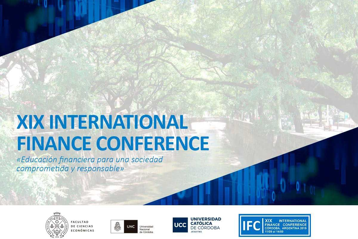Llega XIX International Finance Conference 2019